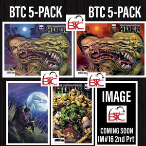 IMMORTAL HULK #16 BTC 5-PACK 1ST & 2ND PRINT 1:25 VARIANTS + ALL THE REGULAR COVERS 04/24/19 FOC 04/01/19