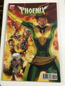 BTC NEWSLETTER DEAL PHOENIX RESURRECTION RETURN JEAN GREY #1 (OF 5) YU GREEN COS 1:100 INCENTIVE VARIANT