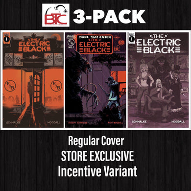 ELECTRIC BLACK #1 BTC 3-PACK EXCLUSIVE VARIANT, REGULAR & INCENTIVE COVER