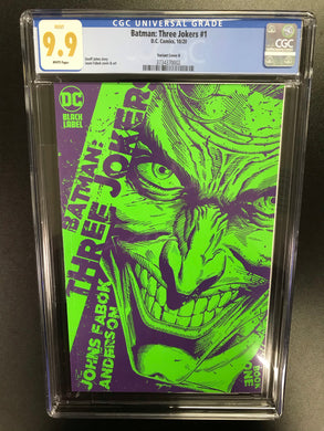 BATMAN THREE JOKERS #1 1:25 VARIANT CGC 9.9