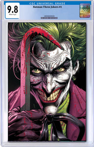 BATMAN THREE JOKERS #1 (OF 3) CGC 9.8 (W/FREE PLAYING CARDS PROMO PACK)