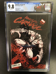 ABSOLUTE CARNAGE #4 ZAFFINO 1:25 CODEX VARIANT CGC 9.8 W/CARNAGE CUSTOM LABEL