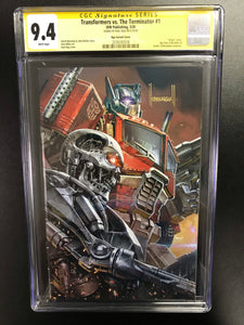 TRANSFORMERS VS TERMINATOR #1 KAEL NGU EXCLUSIVE CGC 9.4 SIGNED BY KAEL