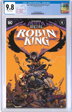 DARK NIGHTS DEATH METAL ROBIN KING #1 CVR A CGC 9.8  + FREE RAW COPY