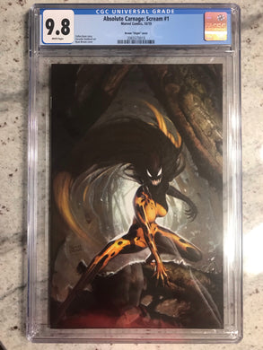 ABSOLUTE CARNAGE SCREAM #1 1:100 BROWN VIRGIN VARIANT CGC 9.8