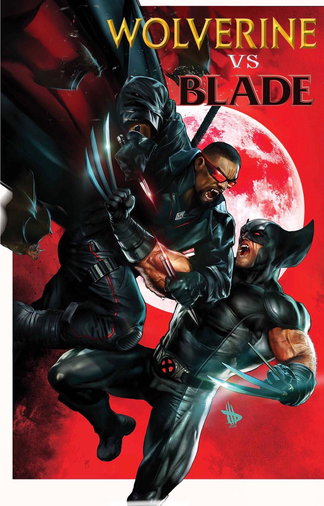 WOLVERINE VS BLADE SPECIAL #1 DAVE WILKINS VARIANT W/TRADE DRESS 07/10/19 FOC 06/17/19