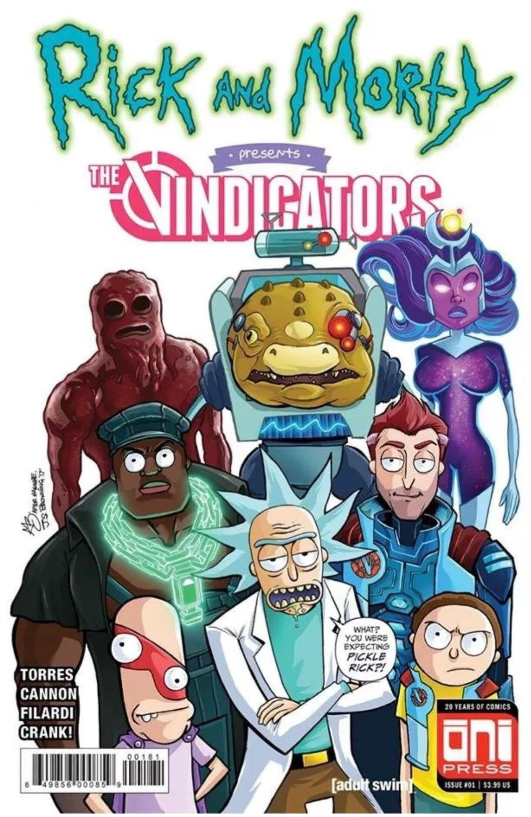 RICK AND MORTY PRESENTS THE VINDICATORS NERD STORE/BRAIN TRUST EXCLUSIVE