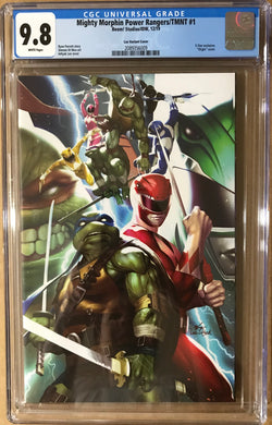 POWER RANGERS TMNT #1 INHYUK LEE EXCLUSIVE VIRGIN VARIANT CGC 9.8