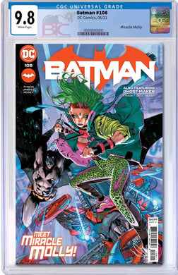 BATMAN #108 FIRST APPEARANCE OF MIRACLE MOLLY CGC 9.8 W/FREE RAW COPY