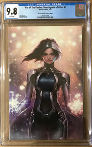 WAR OF REALMS NEW AGENTS OF ATLAS #1 2ND PRINT 1:25 VIRGIN VARIANT CGC 9.8