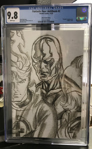 FANTASTIC FOUR ANTITHESIS #2 ALEX ROSS SILVER SURFER 1:100 SKETCH TIMELESS VARIANT CGC 9.8