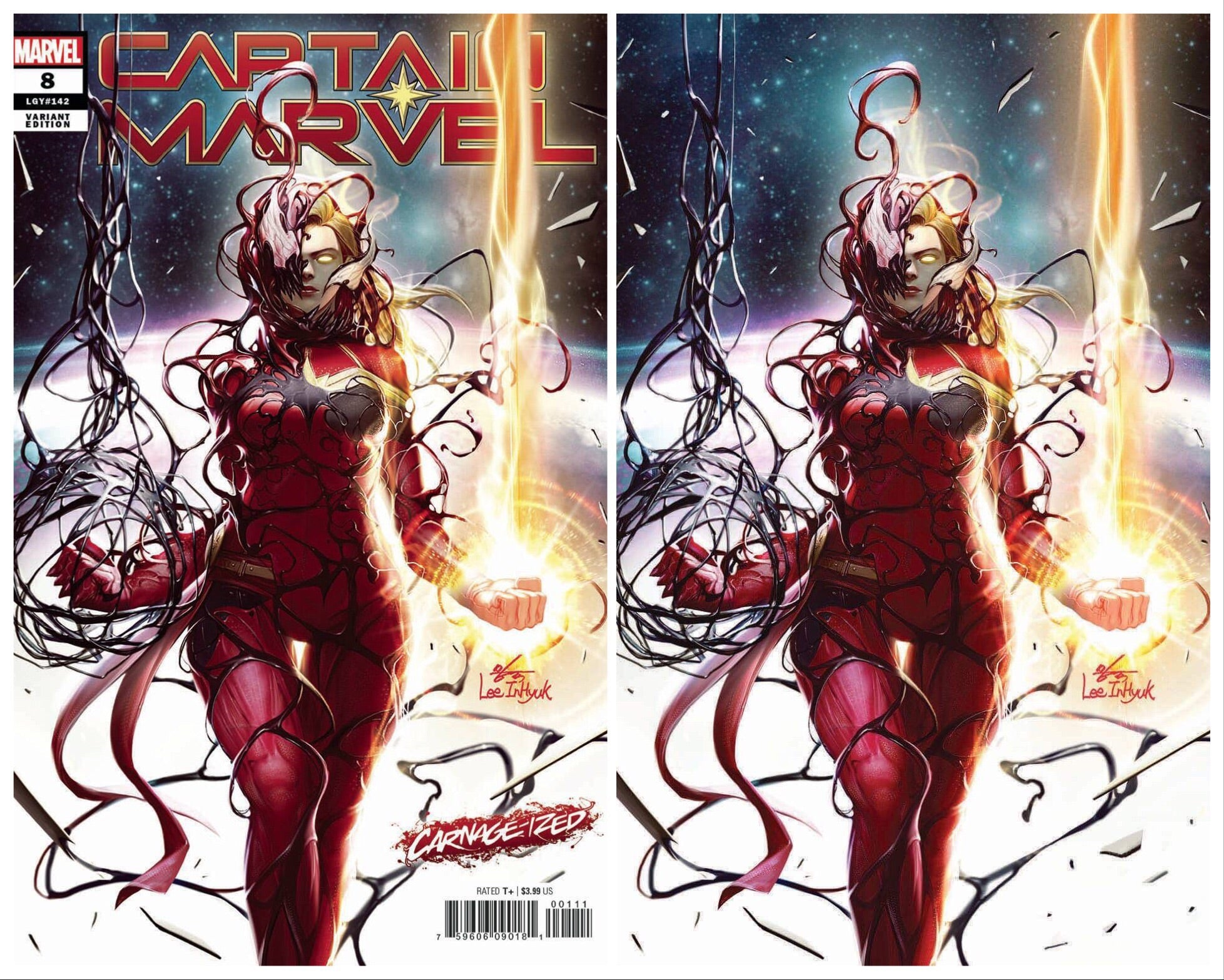Marvel Comic Captain Marvel #8 Carnage-Ized Variant 1st Appearance Of Star
