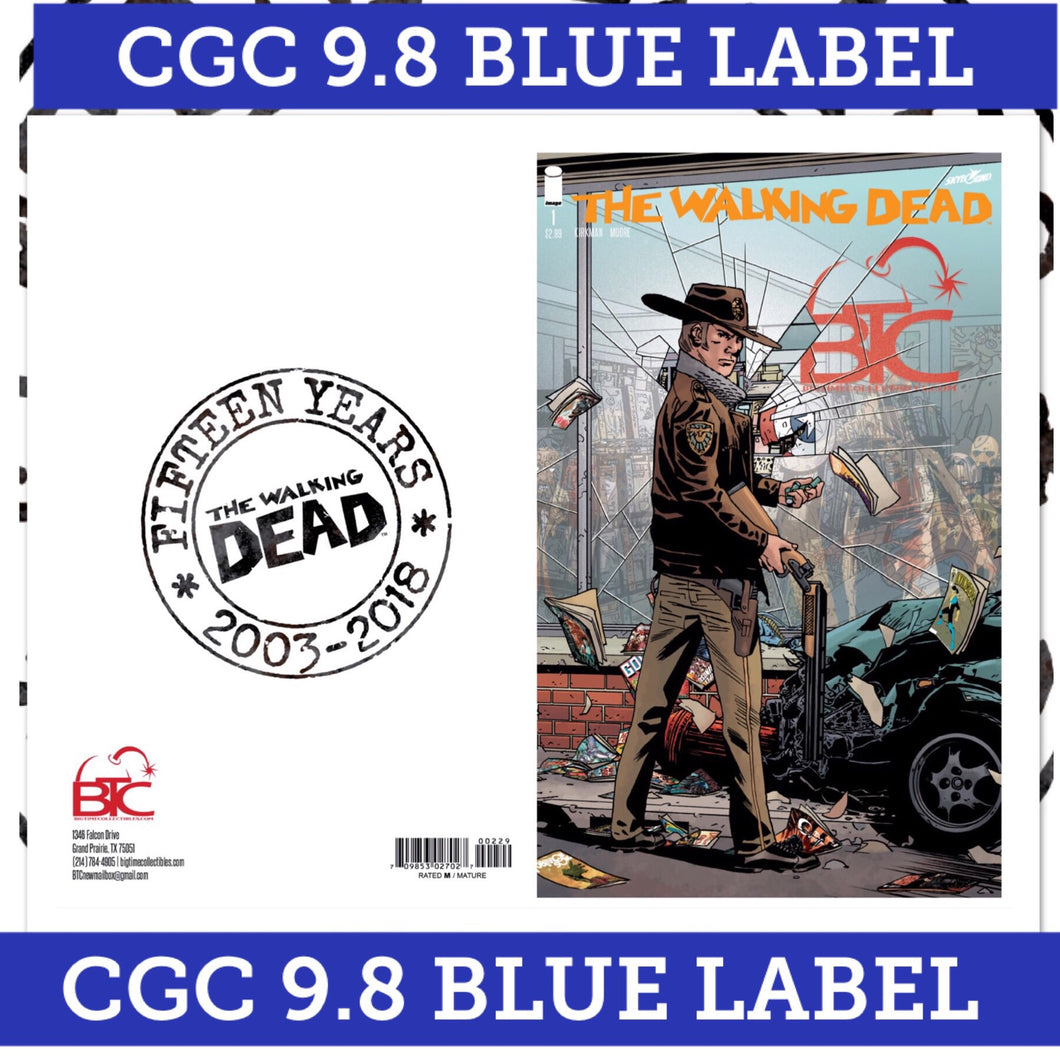 THE WALKING DEAD #1 15th Anniversary BTC Exclusive CGC 9.8