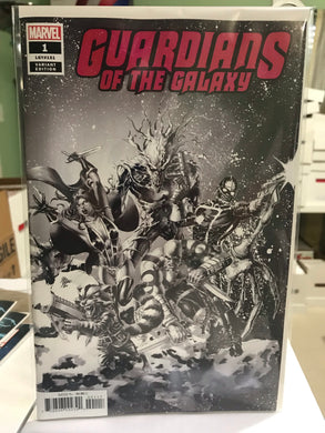 GUARDIANS OF THE GALAXY #1 PARTY SKETCH VARIANT 1 PER STORE VARIANT 01/23/19