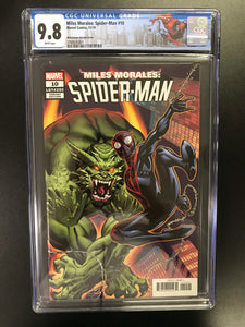 MILES MORALES SPIDER-MAN #10 MCGUINNESS 1:50 VARIANT CGC 9.8 W/SPIDER-MAN CUSTOM LABEL