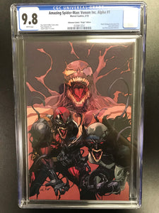 AMAZING SPIDER-MAN: VENOM INC ALPHA #1 LEINIL YU EXCLUSIVE VIRGIN VARIANT CGC 9.8