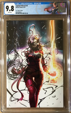 CAPTAIN MARVEL #8 INHYUK LEE EXCLUSIVE CARNAGE-IZED VIRGIN VARIANT CGC 9.8 WITH FREE RAW TRADE DRESS VARIANT