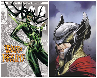 WAR OF REALMS #1 JOE QUESADA 1:100 VIRGIN + FREE J SCOTT CAMPBELL VARIANT 04/03/19 FOC 03/04/09