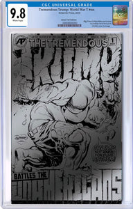 TREMENDOUS TRUMP WORLD WAR T (ONE SHOT) BTC SILVER FOIL EXCLUSIVE CGC 9.8