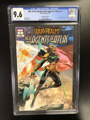 WAR OF REALMS NEW AGENTS OF ATLAS #1 MICO SUAYAN EXCLUSIVE VARIANT CGC 9.6