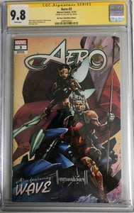 AERO #3 BTC EXCLUSIVE VARIANT CGC 9.8 SIGNED BY KAEL NGU