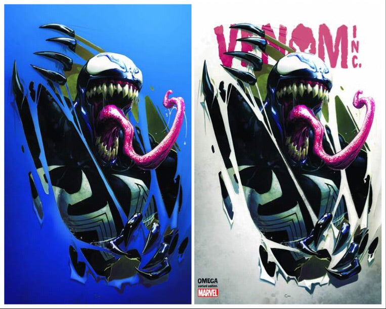 AMAZING SPIDER-MAN VENOM INC OMEGA #1 CLAYTON CRAIN COMICXPOSURE 2 PACK EXCLUSIVE