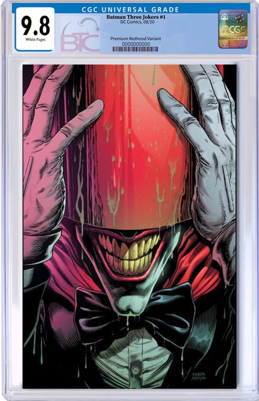 BATMAN THREE JOKERS #1 (OF 3) PREMIUM VAR A RED HOOD CGC 9.8