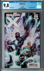 MAJOR X #1 1:25 PORTACIO VARIANT CGC 9.8