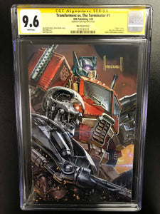 TRANSFORMERS VS TERMINATOR #1 KAEL NGU EXCLUSIVE CGC 9.6 SIGNED BY KAEL