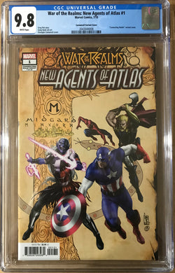 WAR OF REALMS NEW AGENTS OF ATLAS #1 CAMUNCOLI VARIANT CGC 9.8