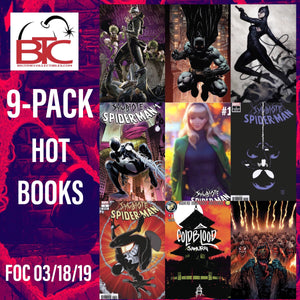 BTC 9-PACK HOT BOOKS VARIANT SET 04/10/19  FOC 03/18/19