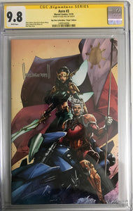 AERO #3 BTC EXCLUSIVE VIRGIN VARIANT CGC 9.8 SIGNED BY KAEL NGU