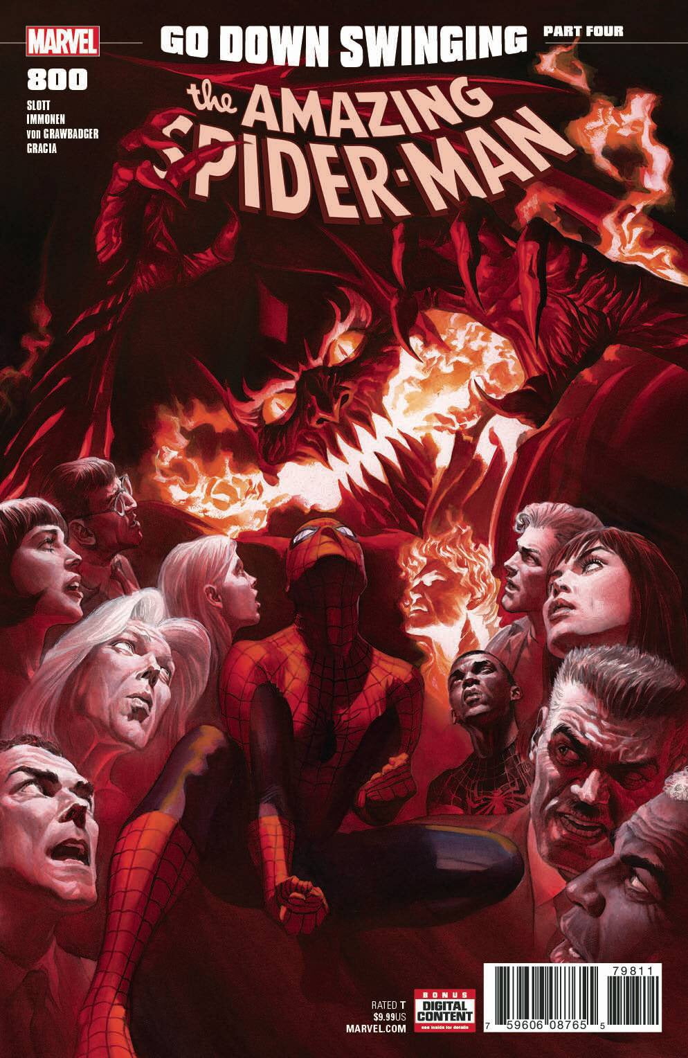 AMAZING SPIDER-MAN #800 LEG ALEX ROSS COVER RELEASE DATE 05/30