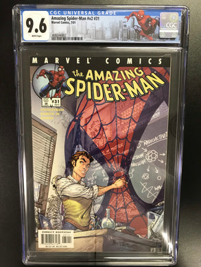 AMAZING SPIDER-MAN #31 J SCOTT CAMPBELL CGC 9.6 W/SPIDER-MAN CUSTOM LABEL