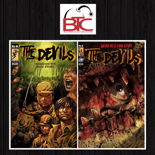 THE DEVILS #1 & #2 BTC EXCLUSIVE LIMITED TO 300 COPIES PRINT RUN WITH NUMBERED COA (NM RAW COPY)