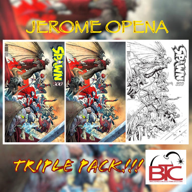 SPAWN #300 JEROME OPENA BTC 3-PACK 09/04/19 FOC 08/12/19