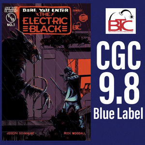 ELECTRIC BLACK #1 BTC EXCLUSIVE CGC 9.8 BLUE LABEL