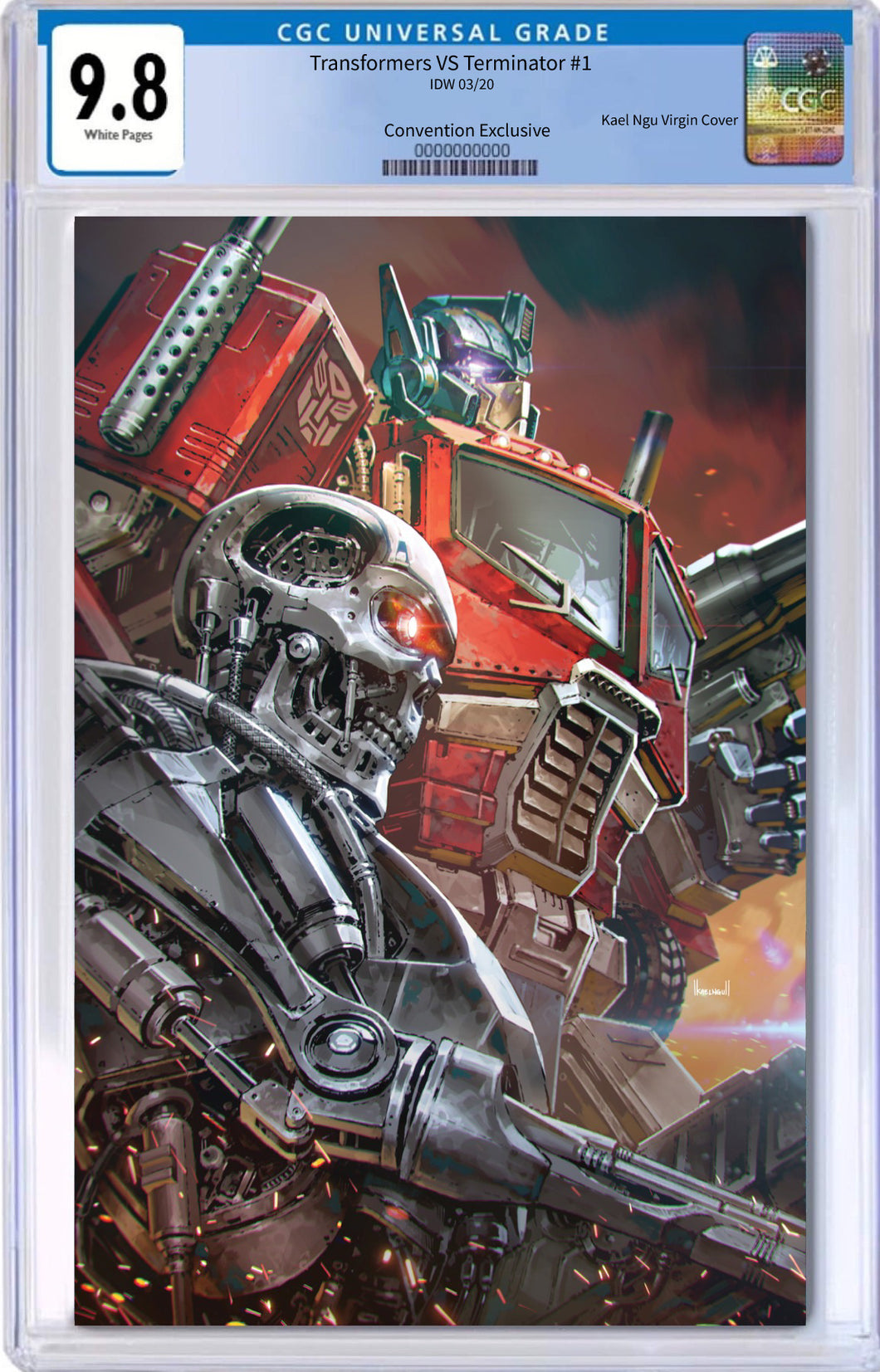TRANSFORMERS VS TERMINATOR #1 KAEL NGU CONVENTION EXCLUSIVE LIMITED TO 600 COPIES CGC 9.8