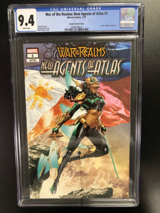 WAR OF REALMS NEW AGENTS OF ATLAS #1 MICO SUAYAN EXCLUSIVE VARIANT CGC 9.4