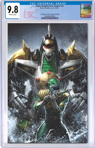 MIGHTY MORPHIN POWER RANGERS #50 CLAYTON CRAIN EXCLUSIVE VIRGIN VARIANT CGC 9.8