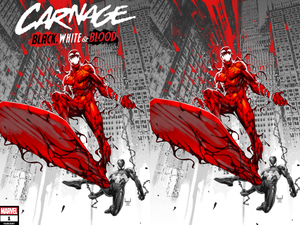 CARNAGE BLACK WHITE AND BLOOD #1 KAEL NGU VARIANT 03/24/21