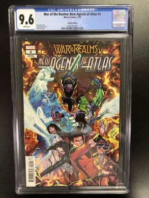 WAR OF REALMS NEW AGENTS OF ATLAS #2 VARIANT COVER CGC 9.6