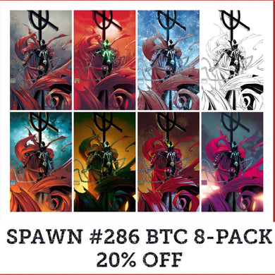SPAWN #286 BTC 8-PACK COVERS A-H 20% OFF FOC 05/14 (ADVANCE ORDER)