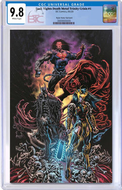 DARK NIGHTS DEATH METAL TRINITY CRISIS #1 1:25 KYLE HOTZ VARIANT CGC 9.8