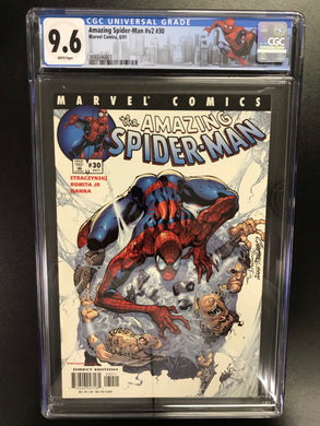 AMAZING SPIDER-MAN #30 J SCOTT CAMPBELL CGC 9.6 W/SPIDER-MAN CUSTOM LABEL
