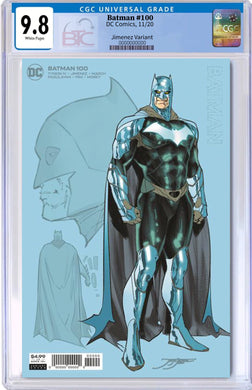 BATMAN #100 INC 1:25 JORGE JIMENEZ CARD STOCK VARIANT CGC 9.8
