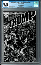TREMENDOUS TRUMP MAN CHILD COVFEFE ONE SHOT BTC BLACK FOIL CONVENTION EXCLUSIVE CGC 9.8