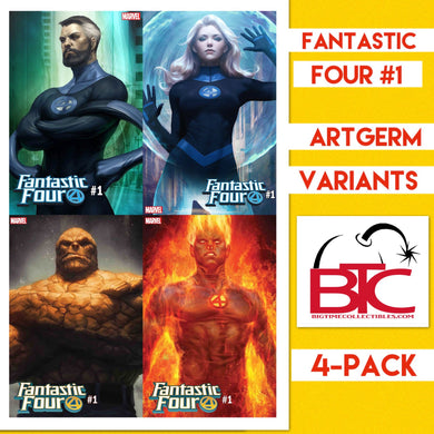 FANTASTIC FOUR #1 VARIANTS BTC 4-PACK + 1 REGULAR COVER FOC 07/16