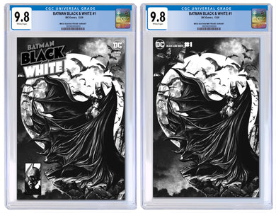 BATMAN BLACK & WHITE #1 MICO SUAYAN EXCLUSIVE CGC OPTIONS