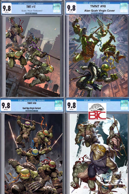 TMNT ULTIMATE 4-PACK #97 #98 #99 #100 SET CGC 9.8 LIMITED TO ONLY 10 SETS